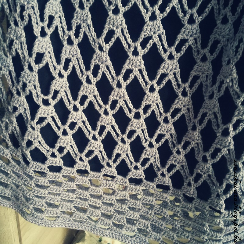 crochet, summer,  tunic, lilac (2)
