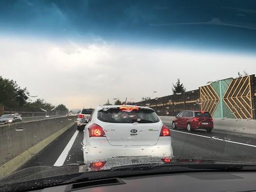 Traffic jam in Austria