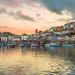 Brixham fishing port sunset