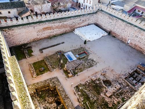 baños arabes Patio de Armas interior Castillo Doña Berenguela Bolaños de Calatrava Ciudad Real 21