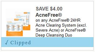 AcneFree 24 Hour Clearing Kits as low as $1 99 at Walgreens