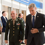Ju, 09/20/2018 - 13:31 - On Thursday, September 20, 2018, the William J. Perry Center for Hemispheric Defense Studies honored General Salvador Cienfuegos Zepeda, Secretary of National Defense of Mexico, and Escola Superior de Guerra (ESG), National War College of Brazil, with the 2018 William J. Perry Award for Excellence in Security and Defense Education. Named after the Center's founder, former U.S. Secretary of Defense Dr. William J. Perry, the Perry Award is presented annually to individuals who and institutions that have made significant contributions in the fields of security and defense education. From the many nominations received, awardees are selected for achievements in promoting education, research, and knowledge-sharing in defense and security issues in the Western Hemisphere. Awardees' contributions to their respective fields further democratic security and defense in the Americas and, in so doing, embody the highest ideals of the Center and the values embodied by the Perry Award.
