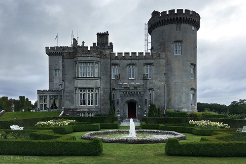 ireland irish europe cloud clouds cloudy overcast day daylight outdoors castle building medieval architecture stone masonry landscape hotel