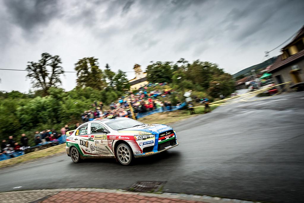 31 Erdi Tibor jun., Papp György, HUN/HUN, Erdi Tibor jun., Mitsubishi Lancer Evo X, Action during the 2018 European Rally Championship ERC Barum rally,  from August 24 to 26, at Zlin, Czech Republic - Photo Thomas Fenetre / DPPI