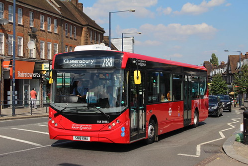 London Sovereign DLE30251 on Route 288, Edgware Station