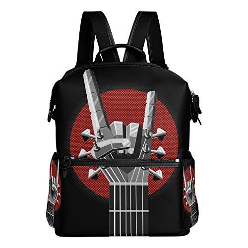 Rock'n Bass Guitar Lightweight Waterproof Backpack Campus Backpack Travel Daypack