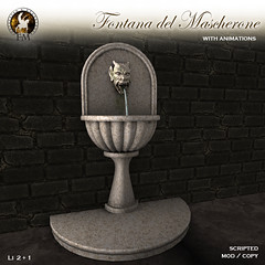 F&M - September GROUP GIFT - Fontana del Mascherone * Medieval Wall Fountain