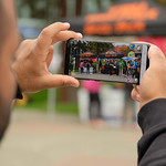 taking a photo (Sept 7, 2018 Borella)