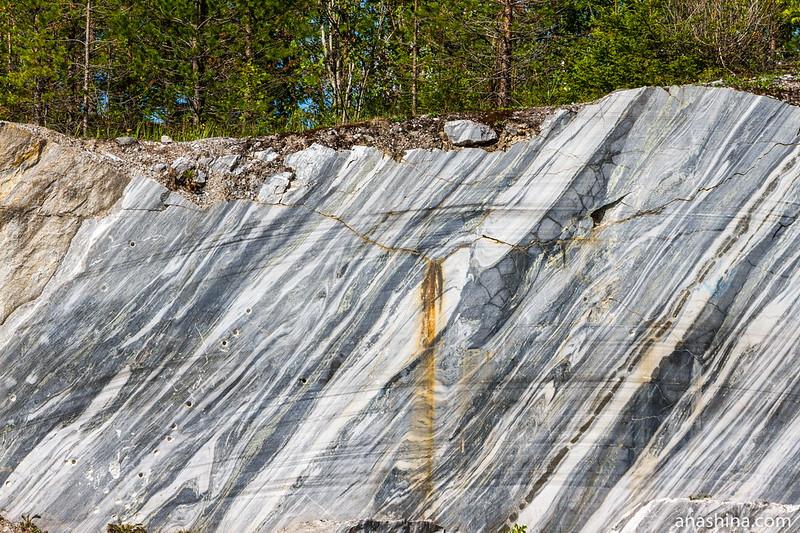 Рисунок мрамора, Горный парк Рускеала