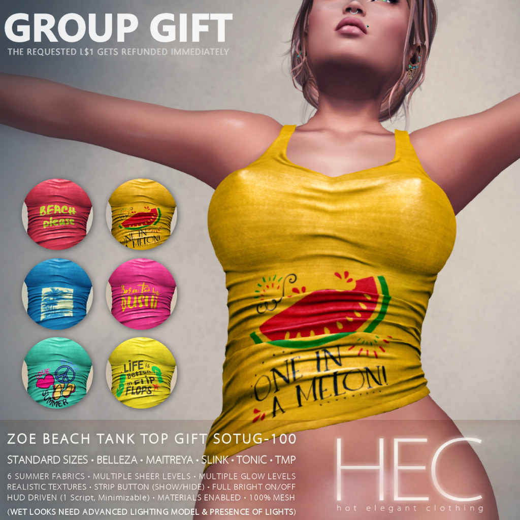 HEC (GROUP GIFT) • ZOE BEACH TANK TOP SOTUG-100