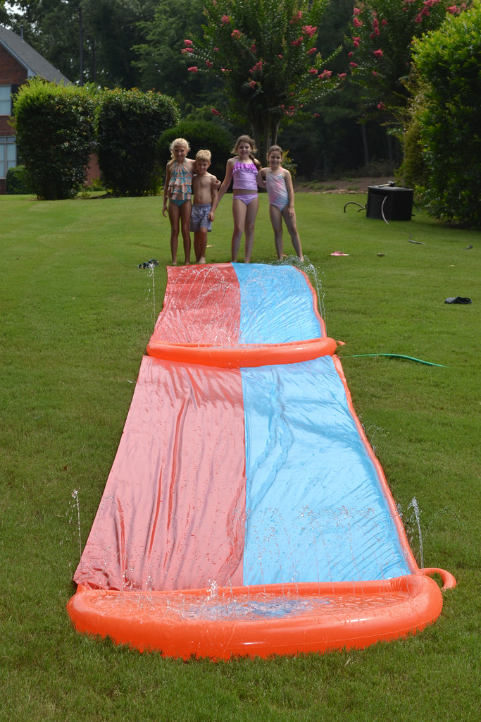 Slip 'n Slide kids
