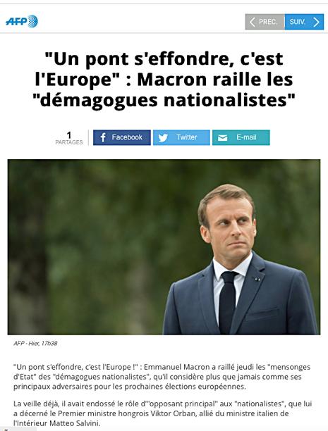 18h31 Macron Un puente de hunde Europa víctima de los demagogos nacionalistas Uti 465