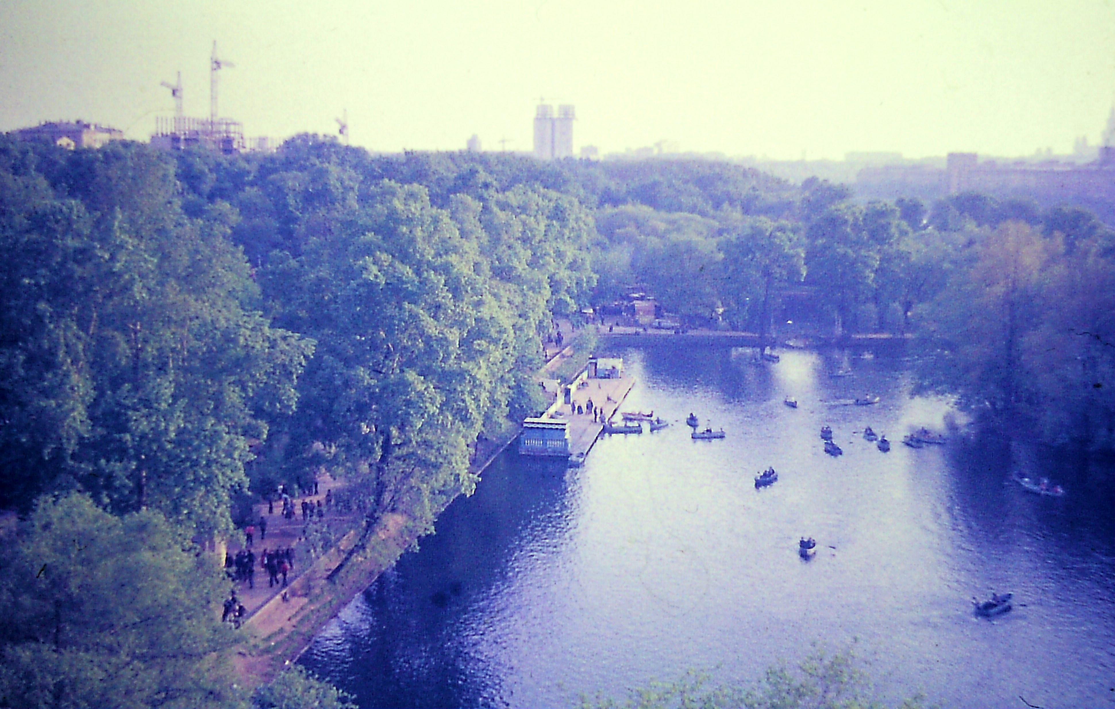 1982. Вид с колеса обозрения на Голицынские пруды