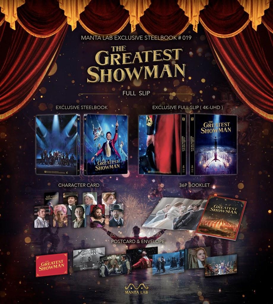 The Greatest Showman - Manta Lab Full Slip Steelbook