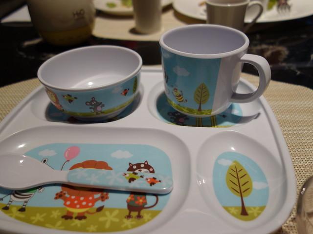兒童餐具@高雄H2O水京棧國際酒店
