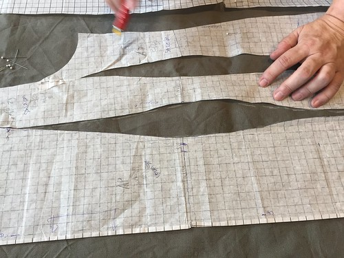 naailes experiment jurk uit 1 stuk canvas autojurk
