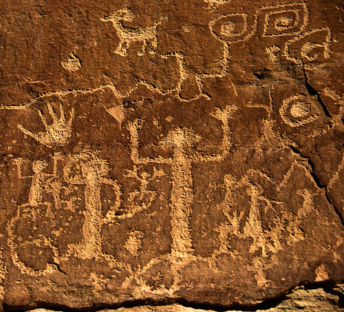 Petroglyphs at at Mesa Verde National Park, Colorado