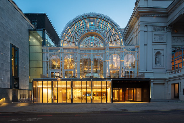 The Royal Opera House's new Bow Street facade ©2018 ROH. Photograph by Luke Hayes