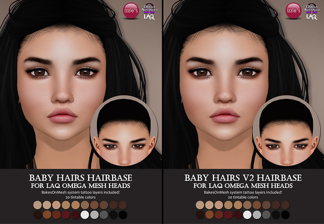 LAQ Omega Baby Hairs Hairbases (Hair Fair 2018)