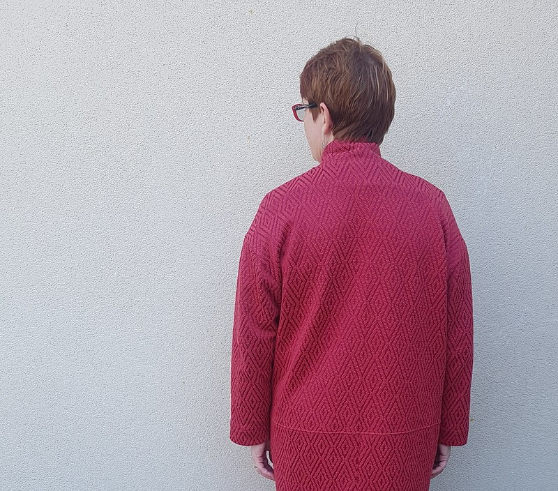 Style Arc Parker coat in knit from The Remnant Warehouse