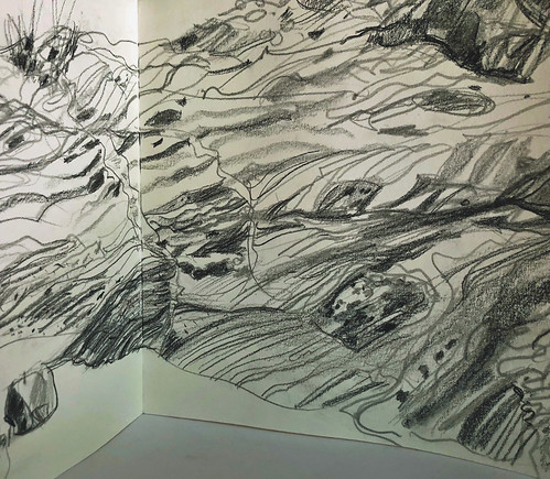 Norway: Caledonian Orogeny drawing, detail of 12' concertina sketchbook