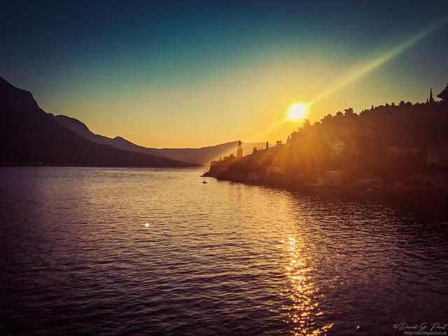 Sunrise on Korčula