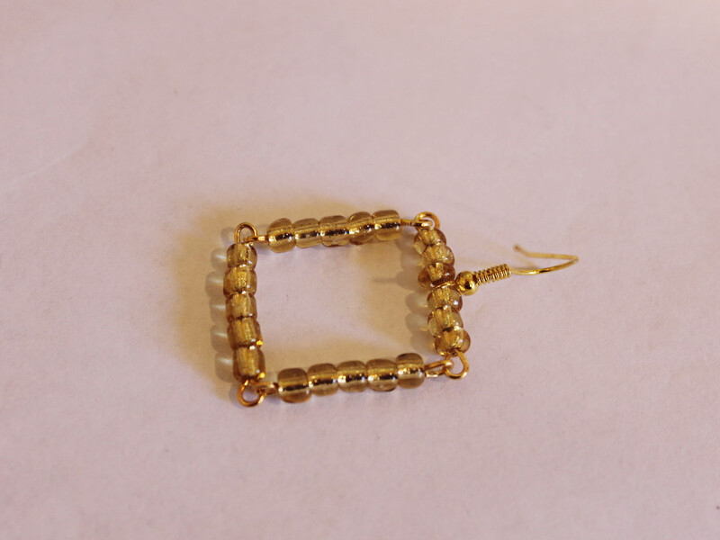 one beaded square