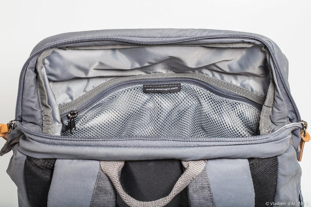 1b782aaa55a3 На другой внутренней стороне отделения находится вшитый объемный сетчатый  карман на молнии. Всё во внутреннем отделении рюкзака продумано, практично,  ...