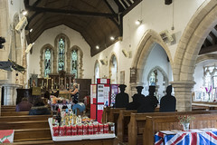 Bucknall (Lincs) St Margaret's church, interior during  church festival