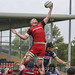 Simon Linsell wins the lineout for Hartpury-8545