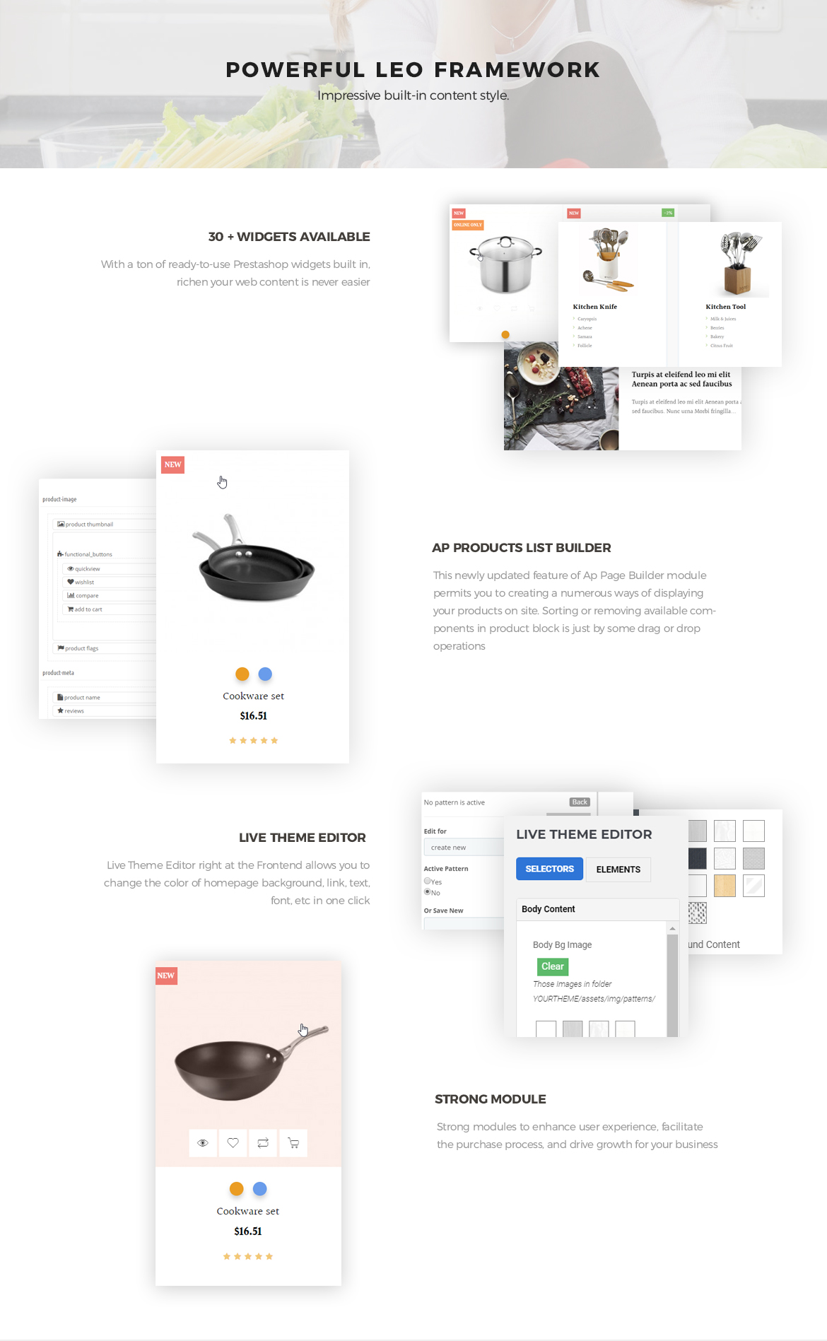 powerful prestashop framework - Leo ICook Prestashop Theme - Kitchen Tool, Cookware, Kitchenware