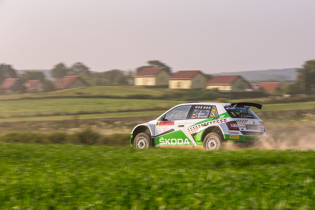 03 KREIM Fabian (DEU), CHRISTIAN Frank (DEU), SKODA AUTO DEUTSCHLAND, Skoda Fabia R5, action during the 2018 European Rally Championship Rally Poland at Mikolajki from September 21 to 23 - Photo Thomas Fenetre / DPPI
