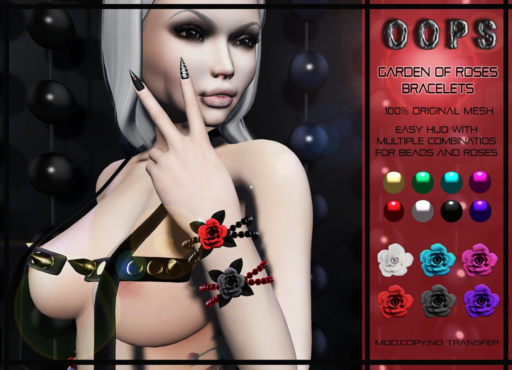 ::OOPS:: Garden Of Roses – Bracelets