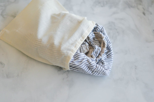 linen bowl covers in drawstring bag