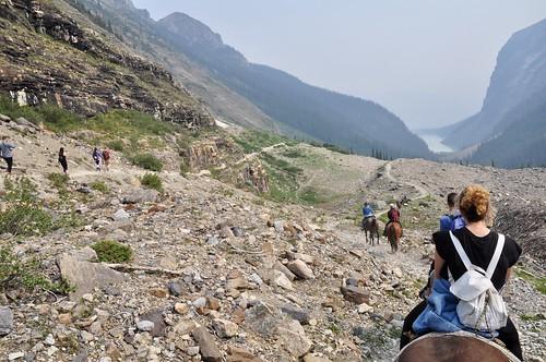 Trail ride back to Lake Louise