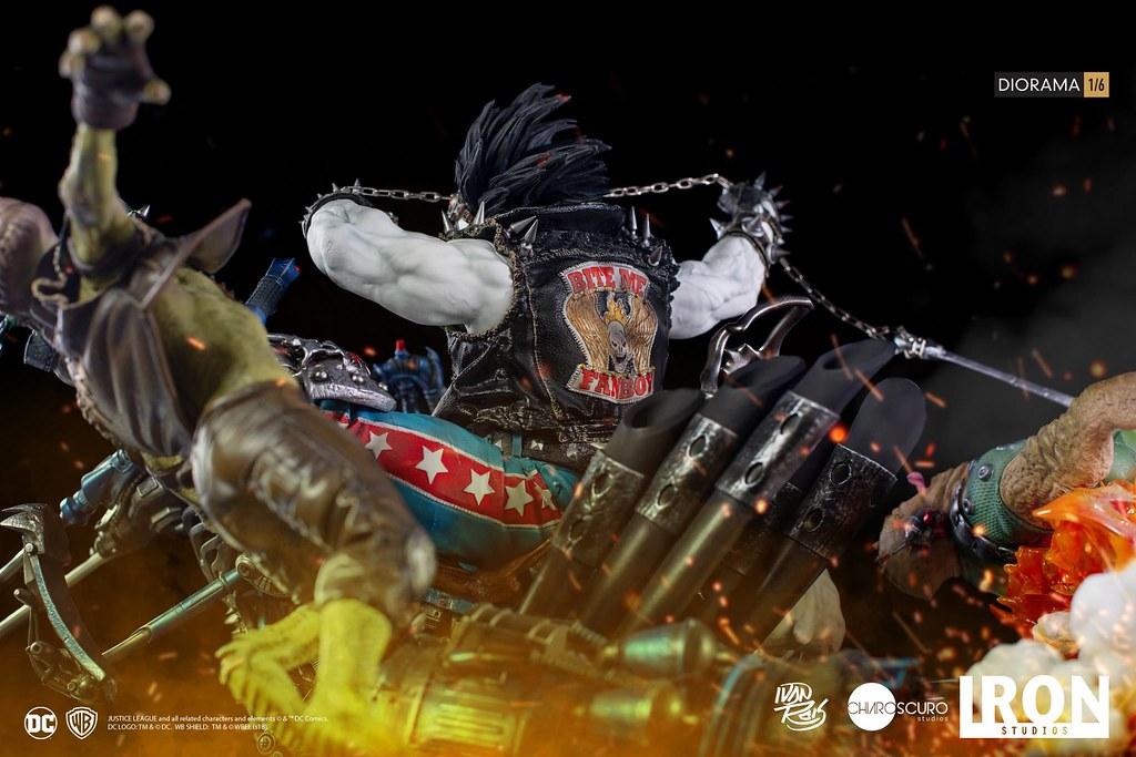 充斥著血腥暴力又瘋狂的傭兵大駕光臨!! Iron Studios DC Comics【暴狼 by Ivan Reis】Lobo by Ivan Reis 1/6 比例全身場景雕像作品