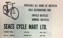 Seaes Cycle Mart Ltd. ad, New Writing from Zambia vol.1 no.2 1964