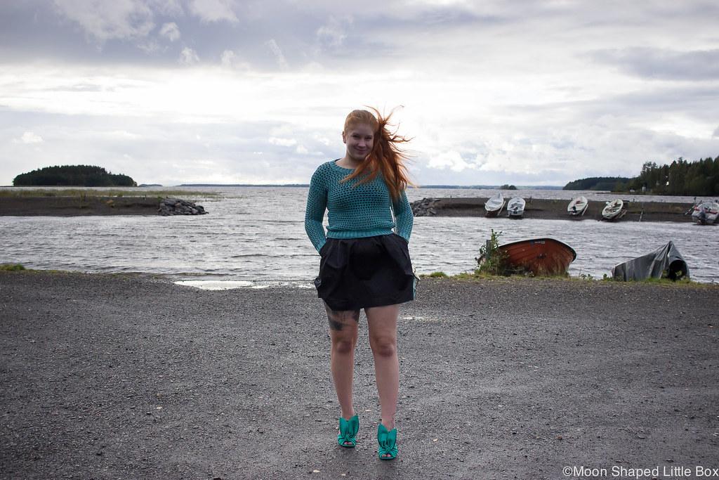 Numph neulepaita, minihame, Parikan kengät, Minna Parikka Blanche- kengät, tyylibloggaaja Joensuu, Joensuu, Koivuniemi, päivän asu, muotibloggaaja