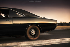 black 1968 Dodge Charger