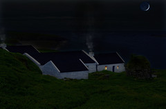 he Blasket lower village at night