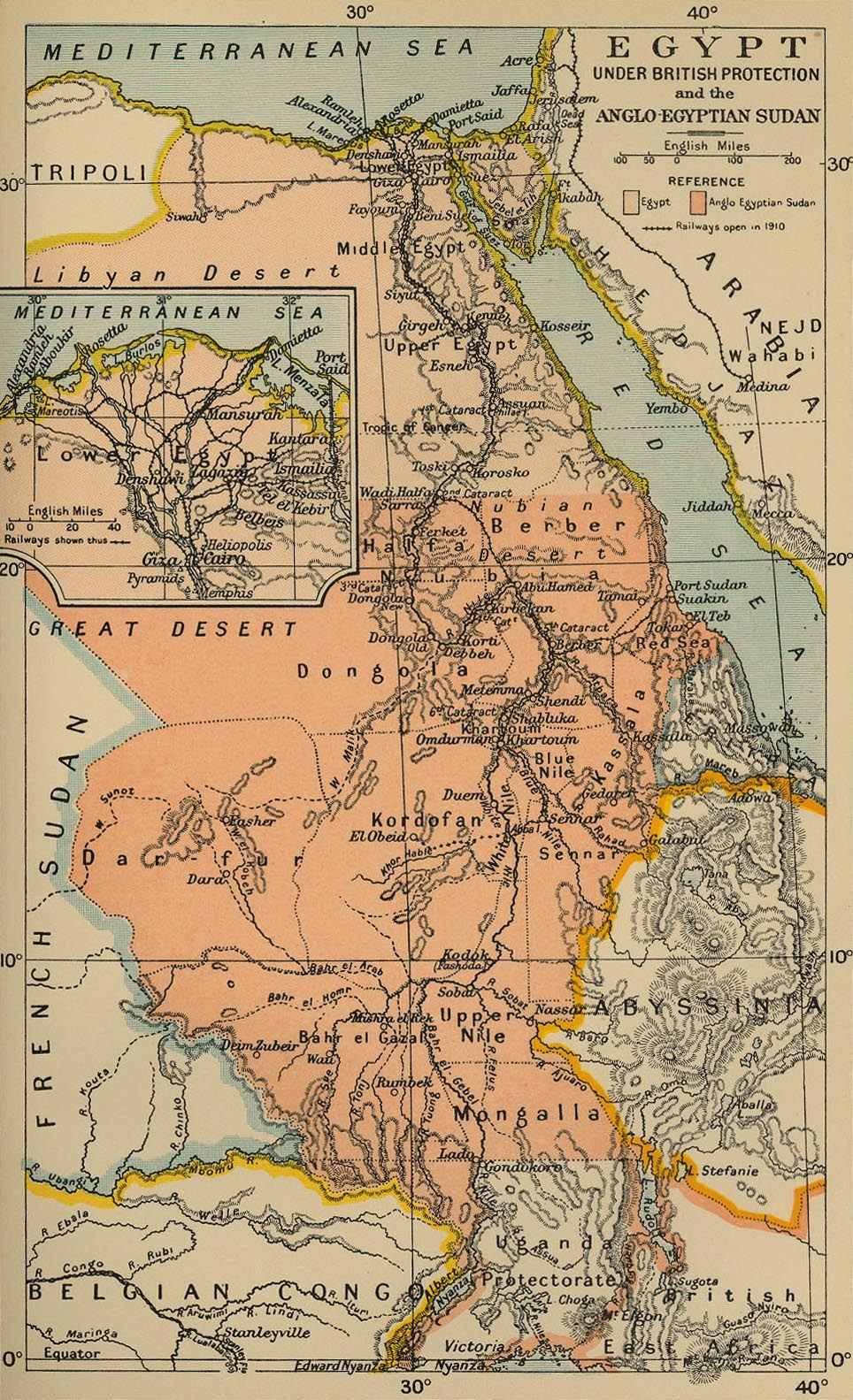 Map of the Anglo-Egyptian Sudan