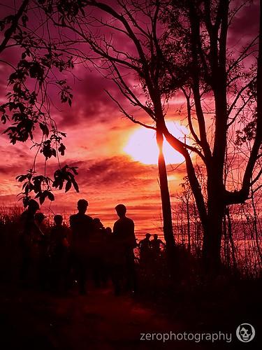 sunset goldenhour dusk brunei mtb orange purple silouhette shadow tutong