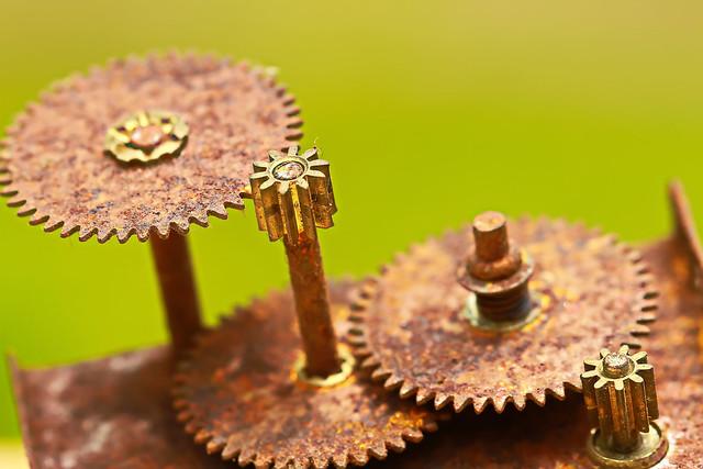 Rusty dusty cogwheel