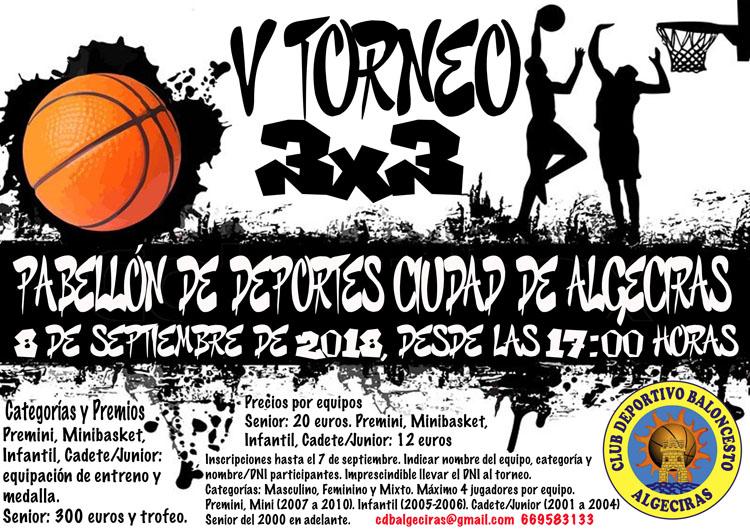 cartel V Torneo 3x3 CDBA1