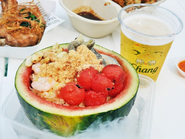 Watermelon Fried Rice, Beer Chang