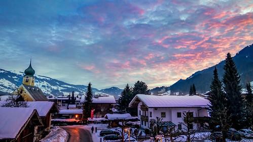 Winter Sunrise Westendorf, Austria