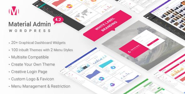 Material v4.2 – White Label WordPress Admin Theme