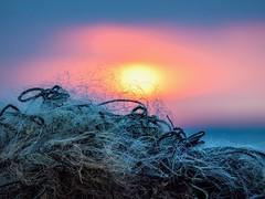 Fishnet sunset