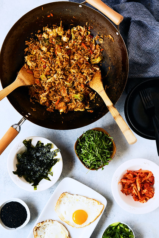 Kimchi Cauliflower Fried Rice {Keto, Paleo, Whole30}