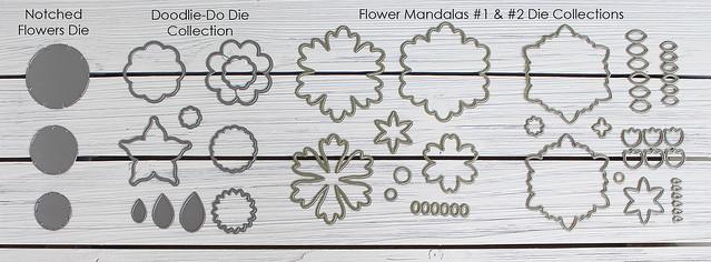 Felt Wreath Suggested Flower Dies